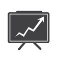 growing chart presentation icon vector image