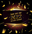 happy new year 2022 card vector image