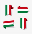 hungarian flag stickers and labels vector image vector image