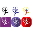 Icons for floor exercise with ribbons vector image vector image