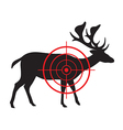image of a deer target vector image