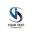 initial si logo design template colored dark grey