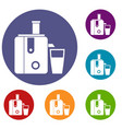 juicer icons set vector image vector image