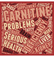 L Carnitine Deficiency text background wordcloud vector image vector image