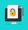 locked confidential secure document online access vector image