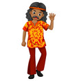 man in old-fashioned costume vector image vector image