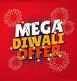 mega diwali sale template with fireworks and vector image vector image