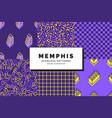 memphis seamless patterns set vector image vector image