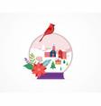 merry christmas winter wonderland scenes in a vector image vector image