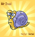 mr snail with old vector image vector image