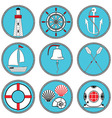Nautical elements type 1 in knottet circle vector image vector image