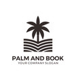 palm and book abstract logo design vector image vector image