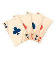 playing cards deck poker texas holdem symbol vector image