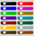 Purse icon sign Set from fourteen multi-colored vector image vector image