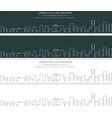 riyadh single line skyline banner vector image vector image