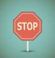 Road stop sign vector image vector image