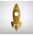 Rocket sign Flat style icon vector image vector image
