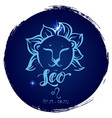 round zodiac sign leo vector image vector image