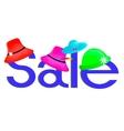 sale hats discount vector image vector image