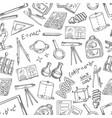 school science sketch seamless pattern vector image vector image