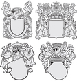 set aristocratic emblems no11 vector image