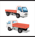 set of city truck vector image
