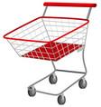 Shopping cart on white background vector image