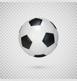 soccer ball isolated on transparent background vector image vector image