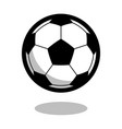 soccer football sport ball logo line 3d icon vector image vector image