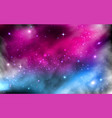 space background colorful starry nebula milky vector image vector image