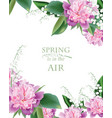 spring peonies and lilly of the valley flowers vector image vector image