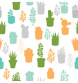 Succulent seamless pattern vector image vector image