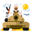 tankman war in the middle east flat style vector image vector image