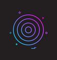 target aim archery focus success icon design vector image