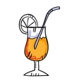 Tropical cocktail drawing icon