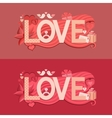 Typography Valentines Day vector image