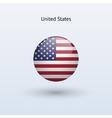 United States round flag vector image