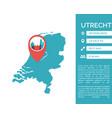 utrecht map infographic vector image vector image