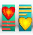 vertical valentine banner set vector image