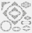 vintage decorative frames set vector image vector image