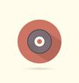 vinyl flat round icon vector image