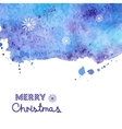 Watercolor background Christmas vector image vector image