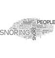 why do people snore text word cloud concept vector image vector image