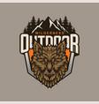 wolf vintage logo design vector image