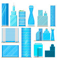 skyscraper high buildings tower office city vector image