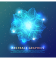 Triangular geometric shape background vector image