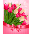 Holiday background with bouquet of colorful vector image