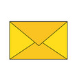 mail or email symbol vector image