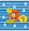Monkey on a safari vector image