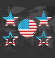 usa flag on black background vector image